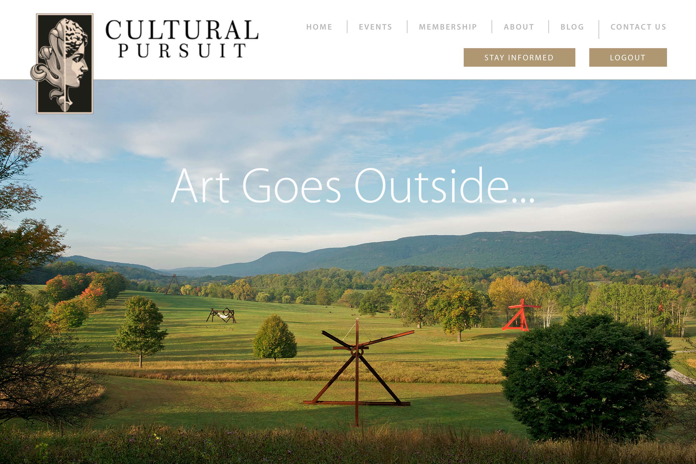 Home page of Cultural Pursuit website