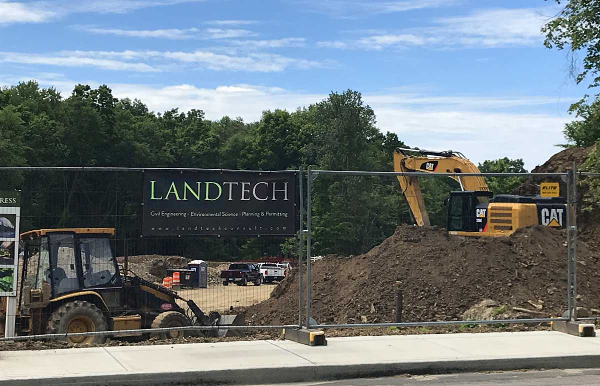 landtech fence banner