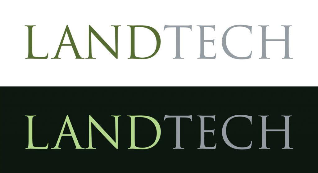 landtech logo in 2 variations of color
